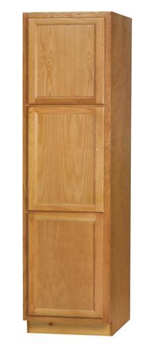 Kitchen Kompact Chadwood 24 X 84 Oak Tall Utility Cabinet