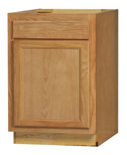 """Golden Oak Kitchen Cabinets: Kitchen Kompact Chadwood 27"""" X 34.5"""" Oak Base Cabinet At"""