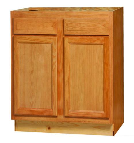 """Glenwood Kitchen: Kitchen Kompact Chadwood 30"""" X 34.5"""" Oak Base Cabinet At"""