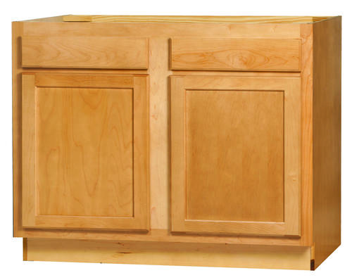 "Kitchen Kompact Mellowood 42"" x 34.5"" Maple Sink Base ..."