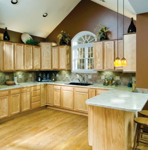 Kitchen Kompact Chadwood 30 X 34 5 Oak Base Cabinet At Menards