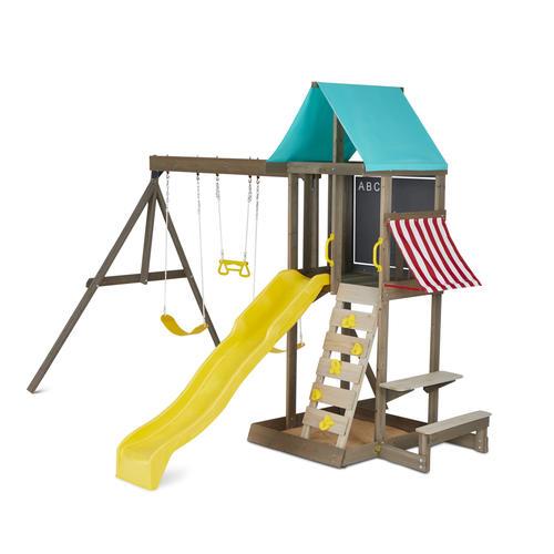 Kidkraft Newport Wooden Swing Set At Menards