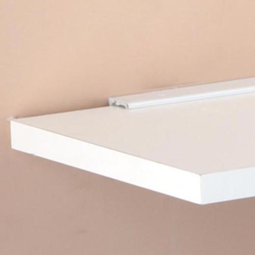 john sterling white shelf ledge for 5 8 shelves at menards rh menards com white wall ledge shelves white wall ledge shelves