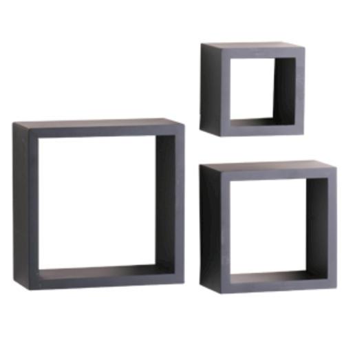 Shelf Made Black Decorative Shadow Box Set 3 Piece At