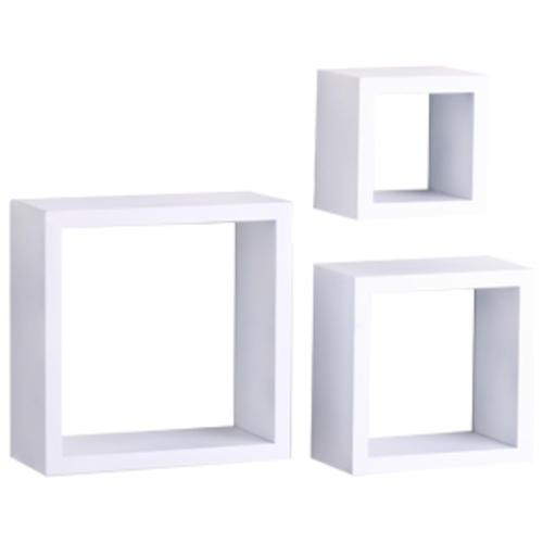 Shelf Made White Decorative Shadow Box Set 3 Piece