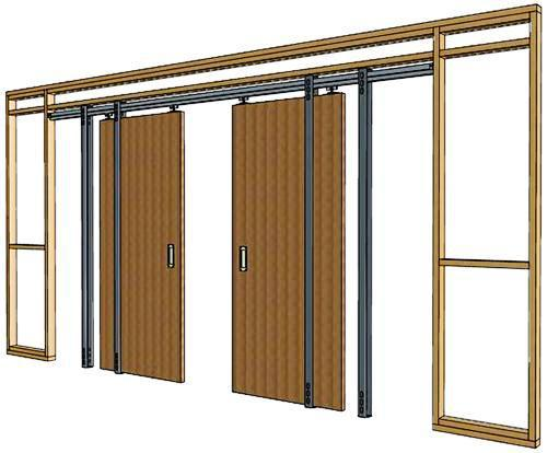 on what does a pocket door frame look like