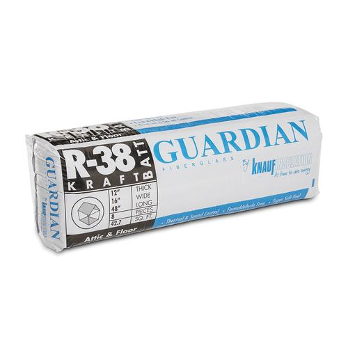 Guardian R 38 Kraft Faced Fiberglass Insulation Batt 16 X 48 42 7 Sq Ft At Menards