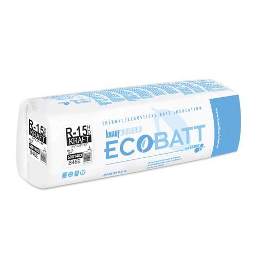 Ecobatt 174 R 15 Kraft Faced Fiberglass Insulation Batt 23 Quot X