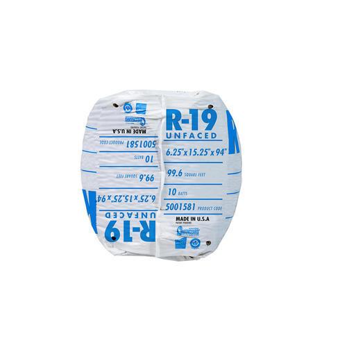 EcoBatt® R-19 Unfaced Fiberglass Insulation Batt 15 25
