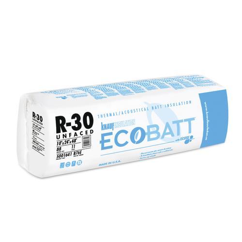 Ecobatt 174 R 30 Unfaced Fiberglass Batt 24 Quot X 48 Quot 88 0 Sq