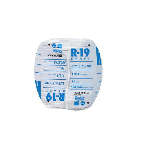 Ecobatt 174 R 19 Kraft Faced Fiberglass Insulation Batt 15 Quot X