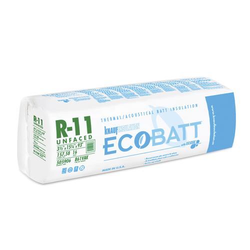 Ecobatt 174 R 11 Unfaced Fiberglass Insulation Batt 15 25 Quot X