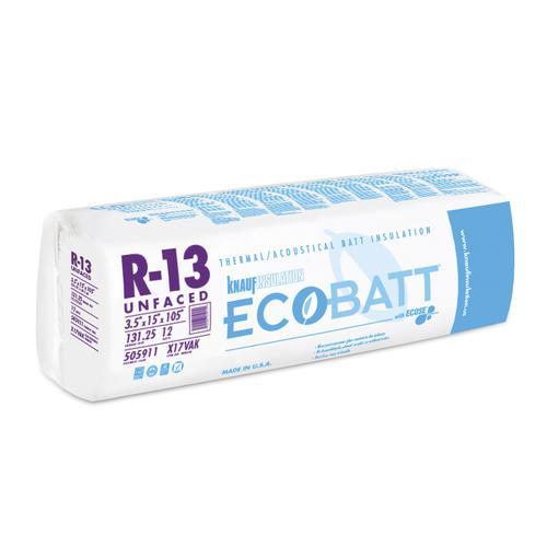 Ecobatt 174 R 13 Unfaced Fiberglass Insulation Batt 15 Quot X 105
