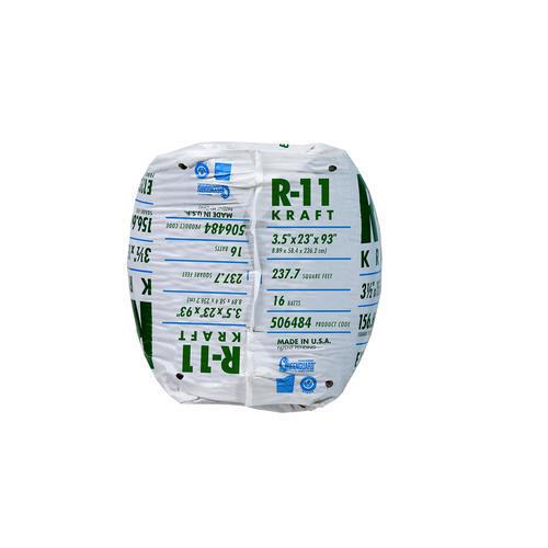 Ecobatt 174 R 11 Kraft Faced Fiberglass Insulation Batt 23 Quot X