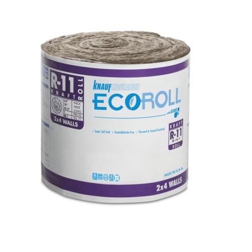 EcoRoll™ R-11 Kraft Faced Fiberglass Insulation Roll 15