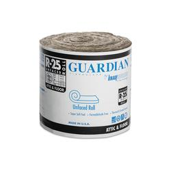 Guardian R 25 Unfaced Fiberglass Insulation Roll 15 Quot X 18
