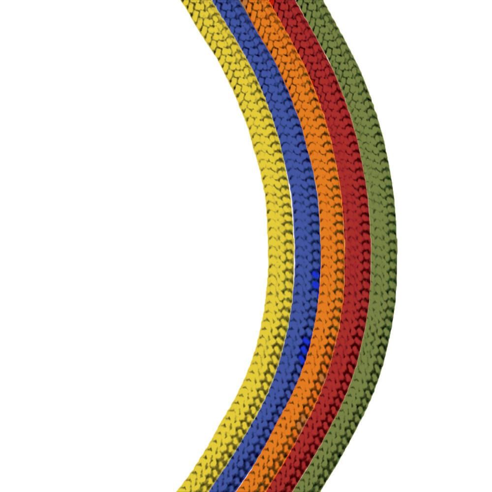 """5 Pack Secure Line Yellow 5//32"""" Reflective Poly Rope 50' 50 Lbs"""