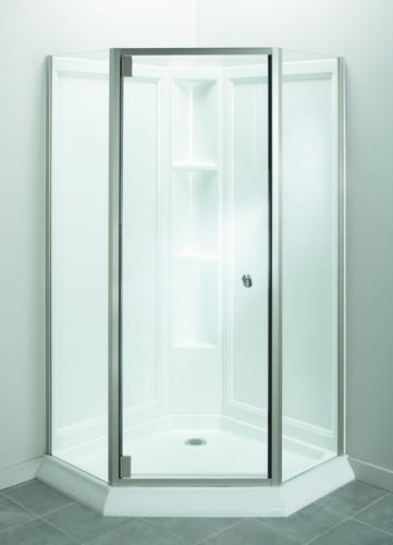 Sterling™ Intrigue™ Neo Angle Shower With Solitaire® Shower Door At Menards®