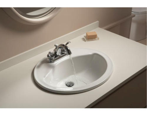 Sterling Sanibel 20 W Round Bathroom Sink 4 Center At Menards