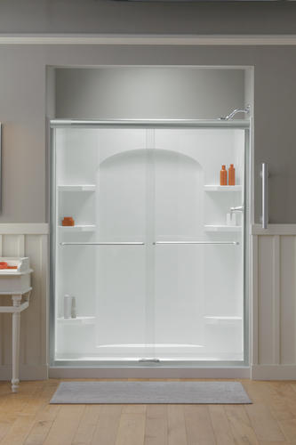 Sterling Ensemble 60 Quot X 30 Quot White Shower With Nickel