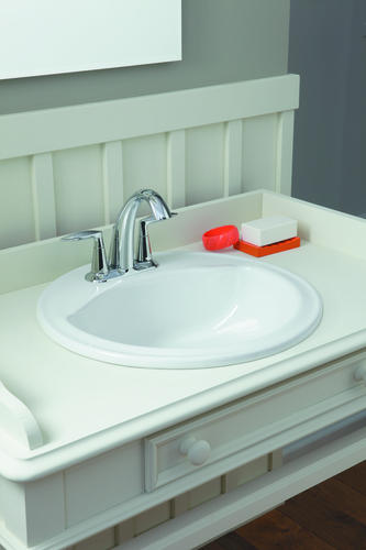Sterling Modesto 19 W Round Bathroom Sink 4 Center At Menards