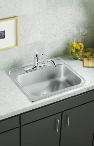 "Sterling Middleton Top Mount 25"" Stainless Steel Sink 3"