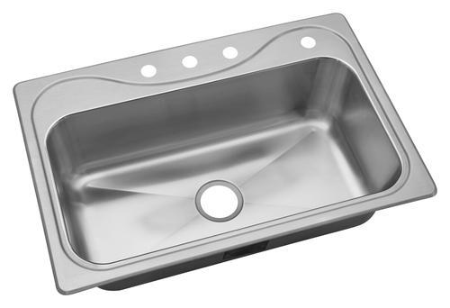 Sterling Southhaven Top Mount 33 Stainless Steel 4 Hole Single Bowl Kitchen Sink At Menards