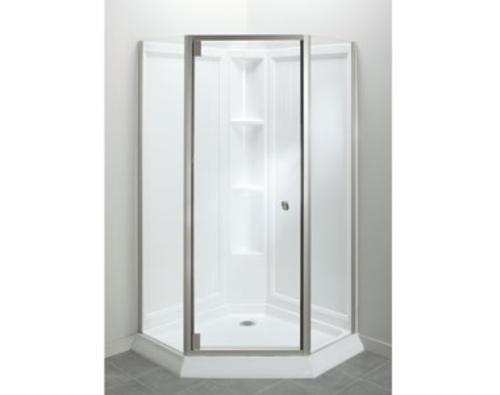 Sterling™ Solitaire® Economy Frameless Corner Shower Kit in ...