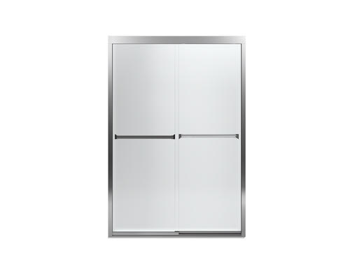 Sterling Meritor With Comfortrack Technology 47 5 8 X 69 3 4 Frameless Sliding Shower Door In Brushed Silver Clear Gl At Menards