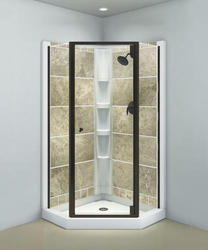 Sterling™ Solitaire® Deep Bronze Neo Angle Corner Shower Door With Clear  Glass