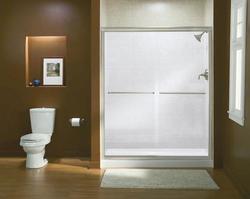Sterling Finesse 59 5 8 W X 70 5 16 H Semi Frameless Sliding Shower Door At Menards