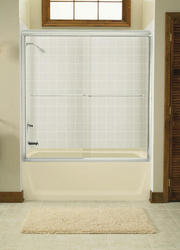 Sterling Finesse 59 5 8 W X 58 1 16 H Semi Frameless Sliding Bathtub Shower Door At Menards