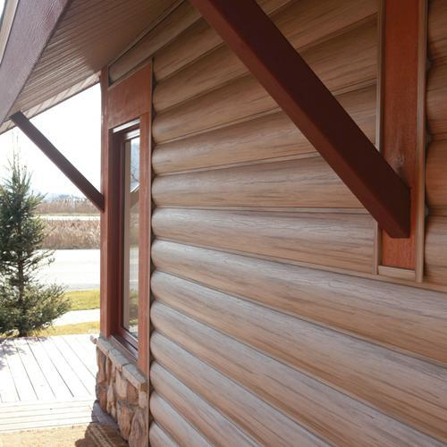"Adirondack™ 7"" X 11' 11"" Vinyl Log Siding At Menards®"