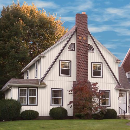 "7 Popular Siding Materials To Consider: TimberCrest® 7"" X 10' Board And Batten Vinyl Siding At"