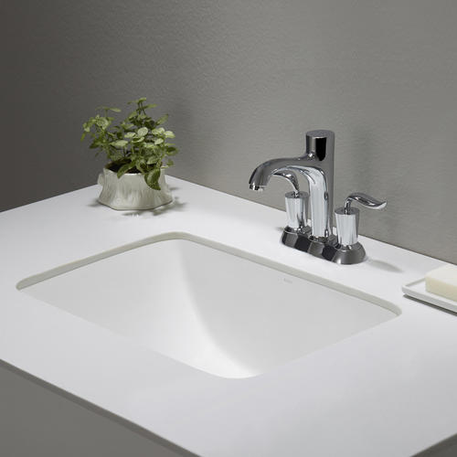 Kraus Elavo White Ceramic Small Rectangular Undermount ...