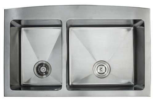 Kraus Farmhouse Apron Front 36 Stainless Steel Double Bowl Kitchen