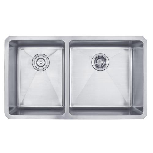 Kraus 33 Undermount Stainless Steel Double Bowl Kitchen Sink At Menards