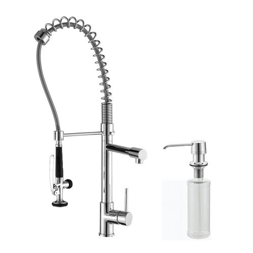 KRAUS® One-Handle Commercial Pull-Down Chrome Kitchen Faucet  sc 1 st  Menards & KRAUS® One-Handle Commercial Pull-Down Kitchen Faucet at Menards®