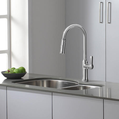 KRAUS® Nola™ One Handle Pull Down Stainless Steel Kitchen Faucet