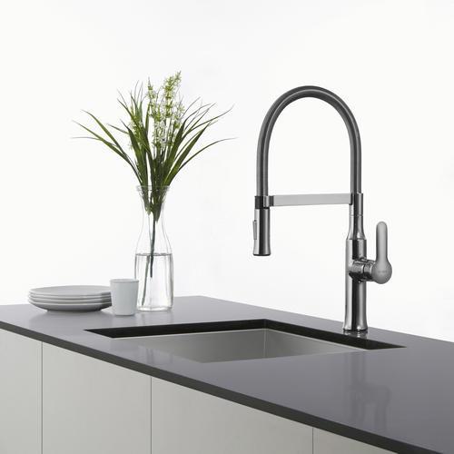 KRAUS® Nola™ One-Handle Flex Commercial Style Kitchen Faucet ...
