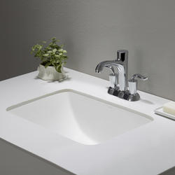 Kraus Elavo White Ceramic Small Rectangular Undermount Bathroom Sink W Overflow At Menards 174
