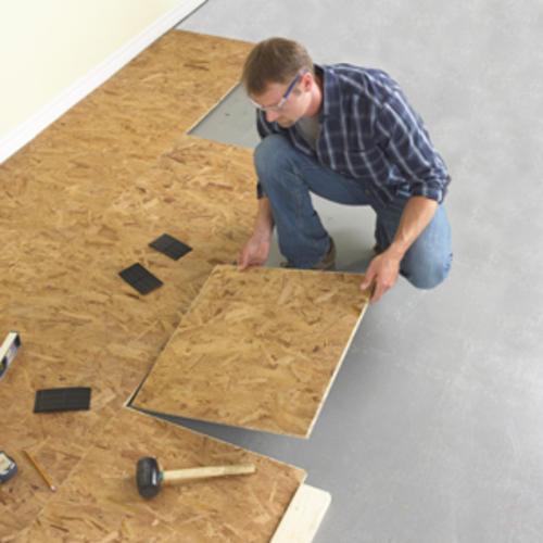 Floating Subfloor Basement: Tile Design Ideas