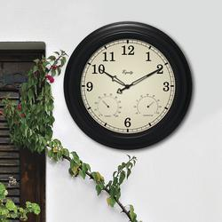 Equity 174 15 5 Quot Indoor Outdoor Wall Clock With Thermometer