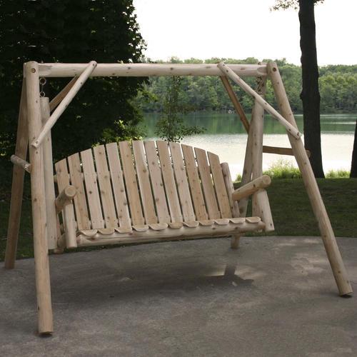 Backyard Creations Cedar Log Swing And A Frame