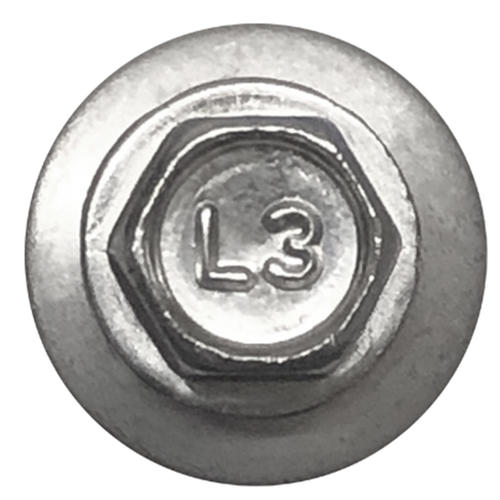 """Lakeside Construction® WOODX™ #10-16 x 2-1/2"""" Hex Drive Red Pole Barn Screw - 1,500 Count"""