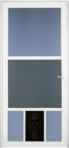 storm doors menards.  Larson Westminster Reversa Screen Storm Door with Pet Flap at Menards