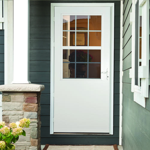 Terrific rough opening for a 36 inch storm door gallery for Storm door with roll up screen