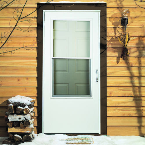 Larson Titan 32  x 80 White DuraTech Single Vent Storm and Screen Door at Menards