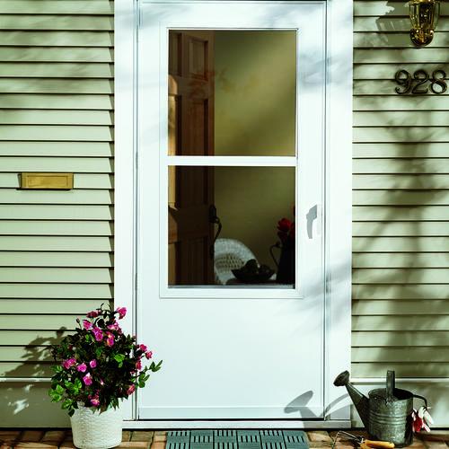 Larson 174 Lincoln Self Storing Mid View Storm Door At Menards 174