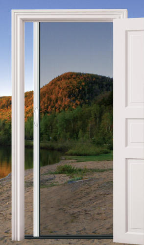 Model Of E100Wh39x81 Modern - Beautiful larson retractable screen door For Your Home